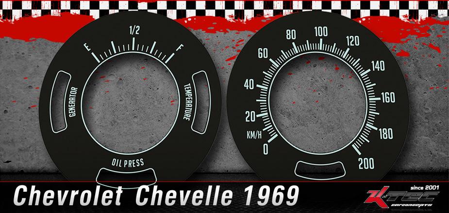 Tachoscheiben Chevrolet Chevelle 1969