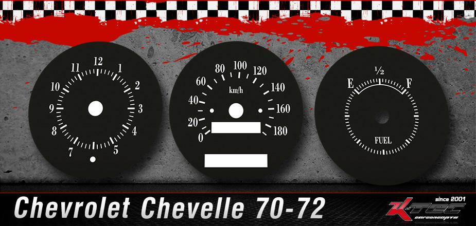 Tachoscheiben Chevrolet Chevelle 1970-1972