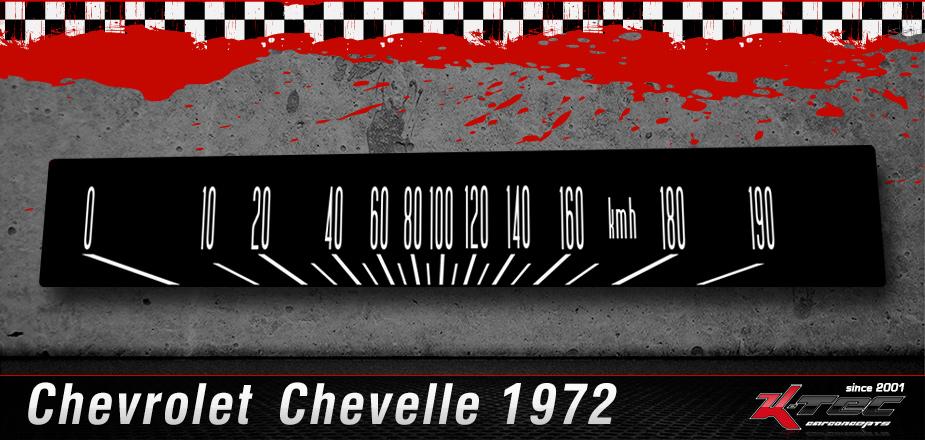 Tachoscheibe Chevrolet Chevelle 1972