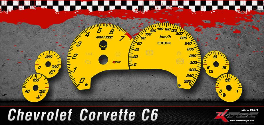 Tachoscheiben Chevrolet C6 Z06 ZR1
