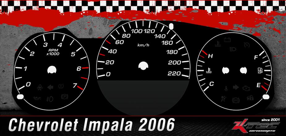 Chevrolet Impala 2006 tachoscheibe