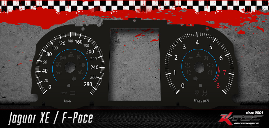 Tachoscheiben Jaguar XE / F-Pace