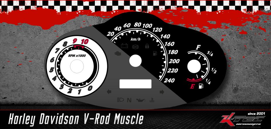 Tachoscheiben Harley Davidson  V-Rod Muscle