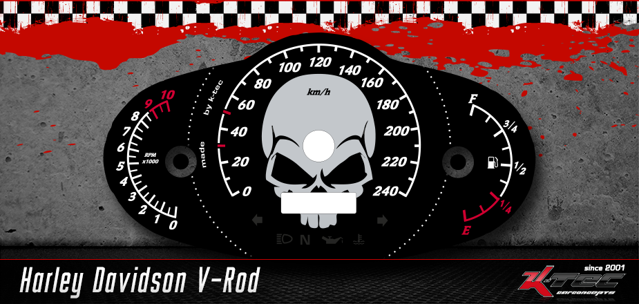 Tachoscheiben Harley Davidson V-Rod