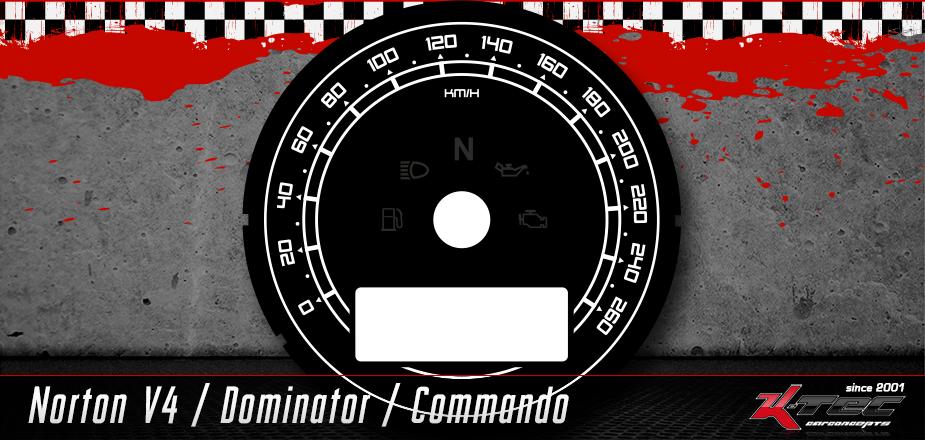 Tachoscheibe Norton Motorcyles Commando / Dominator / V4
