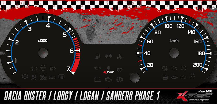 Tachoscheibe Dacia Duster,  Lodgy, Logan,  Sandero Phase 1